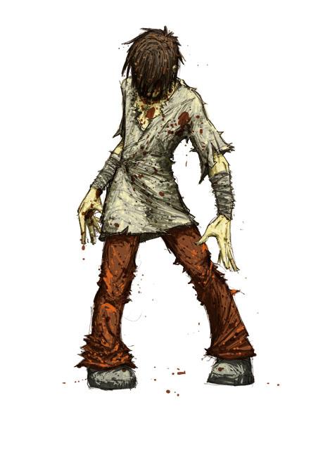 Le zombi, étape