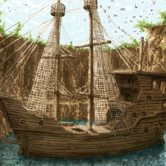 Le bateau oublié