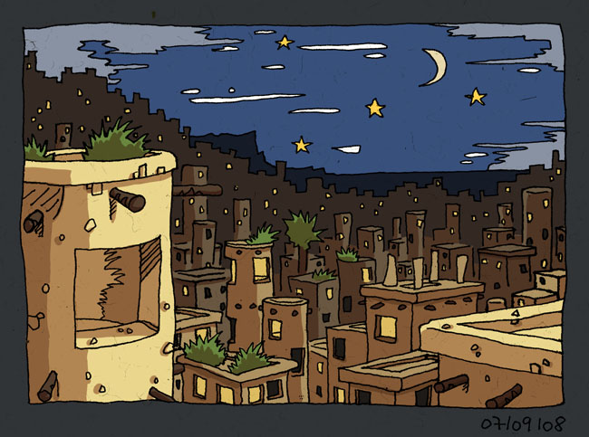 Une ville dans le désert