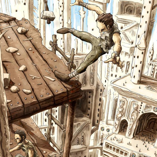 Au sommet de la Cathédrale # 5, détail 1